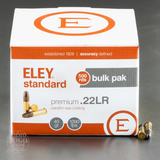 500rds - 22LR Eley Standard 40gr. Solid Point Ammo