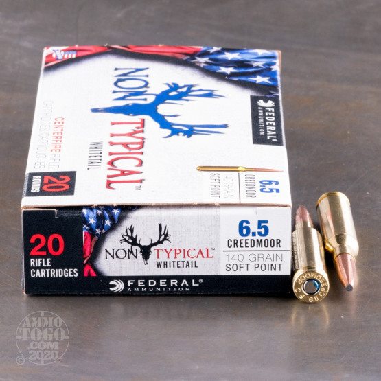 20rds - 6.5mm Creedmoor Federal Non-Typical 140gr. SP Ammo