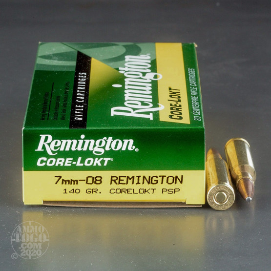 20rds - 7mm-08 Remington 140gr. Core-Lokt Pointed Soft Point Ammo