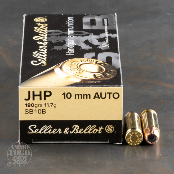 1000rds - 10mm Sellier & Bellot 180gr. JHP Ammo