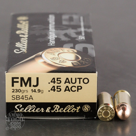 1000rds – 45 ACP Sellier & Bellot 230gr. FMJ Ammo