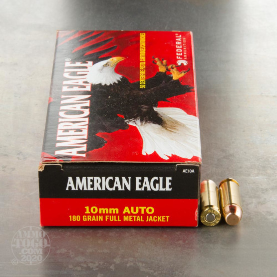 50rds - 10mm Federal American Eagle 180gr. FMJ Ammo