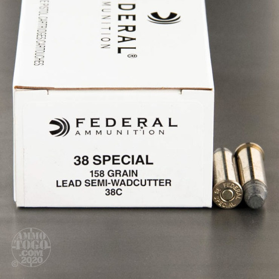 50rds – 38 Special Federal 158gr. LSWC Ammo