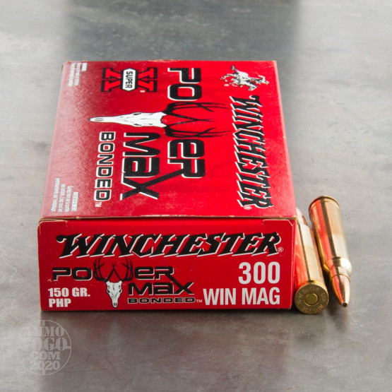 20rds - 300 Win. Mag. Winchester 150gr Power Max Bonded PHP Ammo
