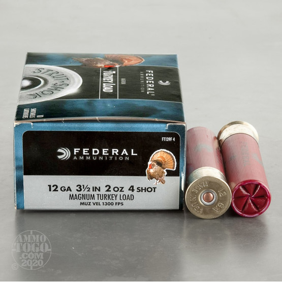"10rds - 12 Gauge Federal Strut-Shok 3 1/2"" 2oz. #4 Turkey Load"