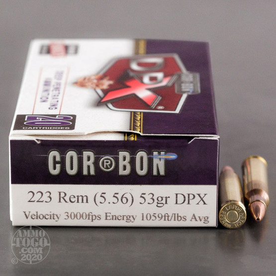 20rds - .223 Corbon DPX 53gr. HP Ammo
