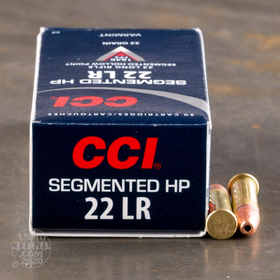 50rds -  22LR CCI Segmented 32gr. Hollow Point Ammo