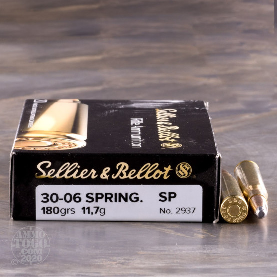 20rds – 30-06 Sellier & Bellot 180gr. SP Ammo