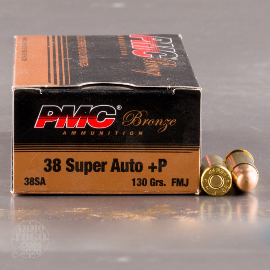 1000rds – 38 Super +P PMC Bronze 130gr. FMJ Ammo