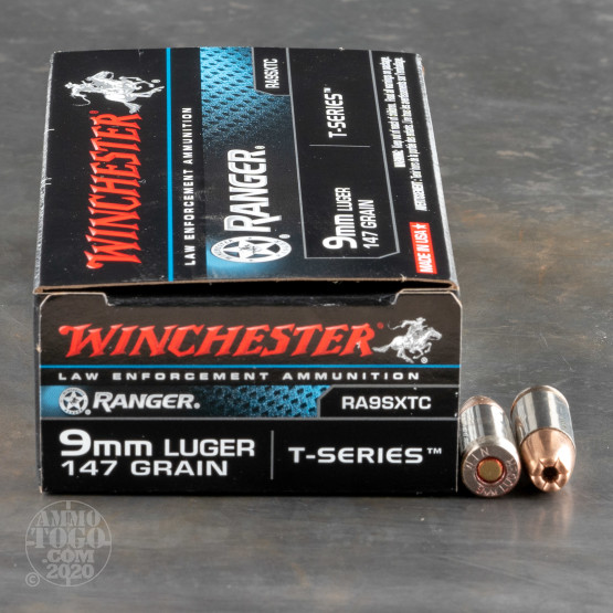 9mm luger 9x19 ammunition for sale winchester 147 grain jacketed hollow point jhp 50 rounds 50rds 9mm winchester ranger talon 147gr sxt hp ammo