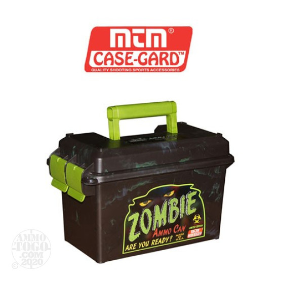 1 - MTM 50 Cal Size Zombie Ammo Can - Brown/Green