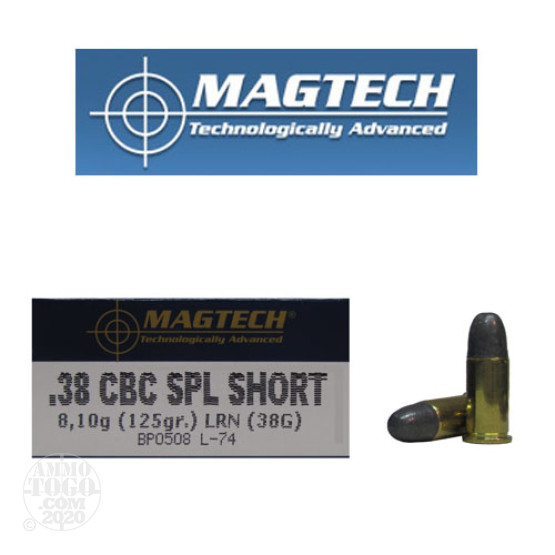 500rds - 38 Special Short Magtech 125gr. Lead Round Nose Ammo
