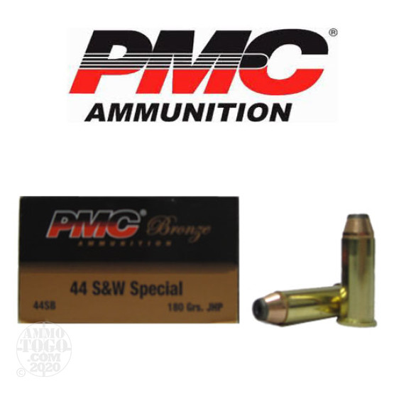 50rds - 44 Special PMC 180gr. Jacketed Hollow Point Ammo