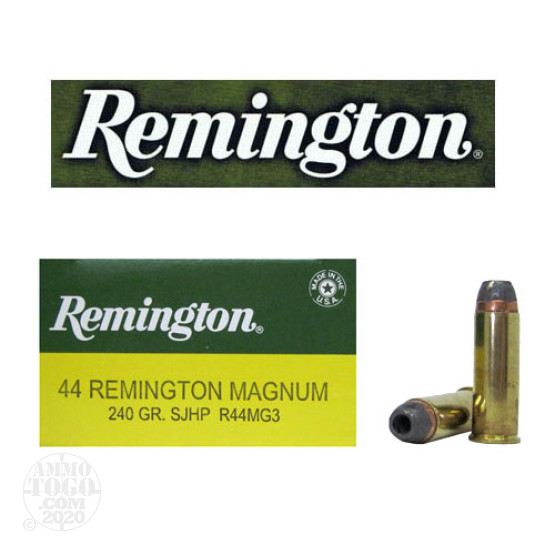 500rds - 44 Mag Remington 240gr Semi-Jacketed Hollow Point Ammo