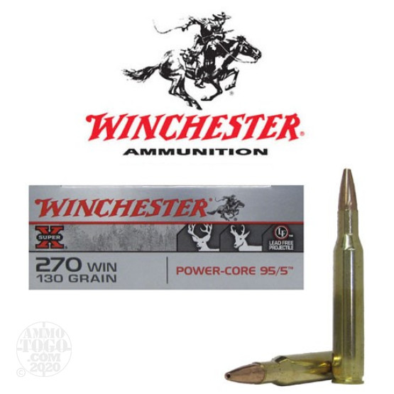 20rds - 270 Winchester Super-X Power-Core 130gr. BTHP Ammo