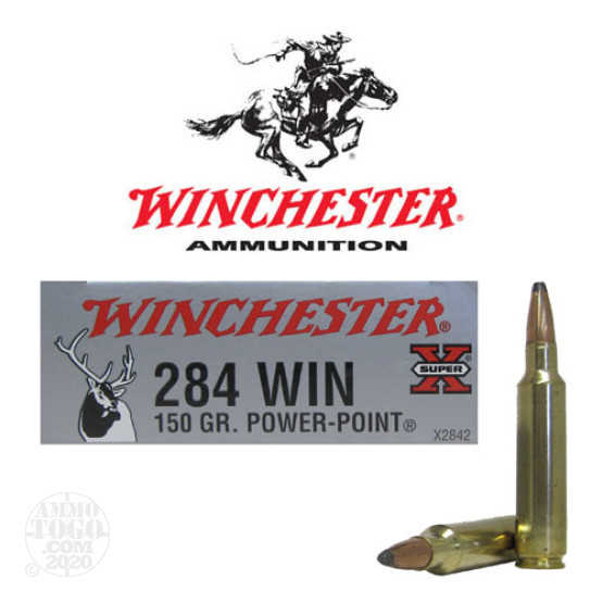 20rds - 284 Winchester Super-X 150gr. Power Point Ammo