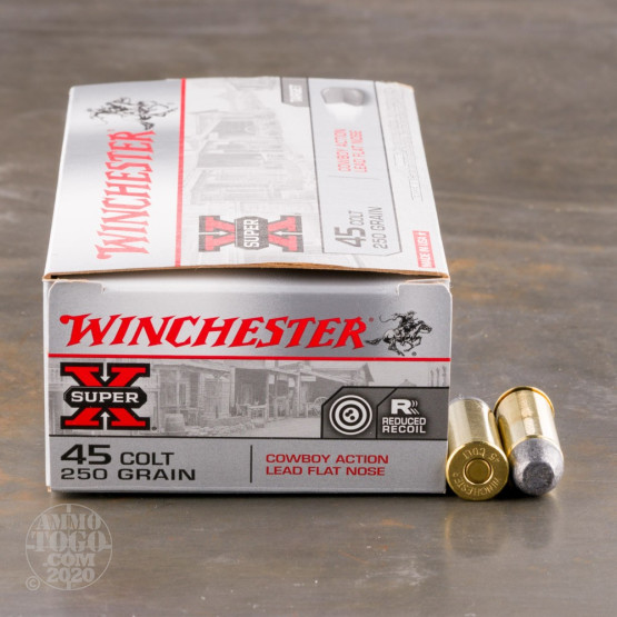 50rds - 45 Long Colt Winchester Cowboy 250gr. Lead Flat Nose Ammo