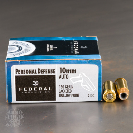20rds – 10mm Federal Personal Defense 180gr. JHP Ammo