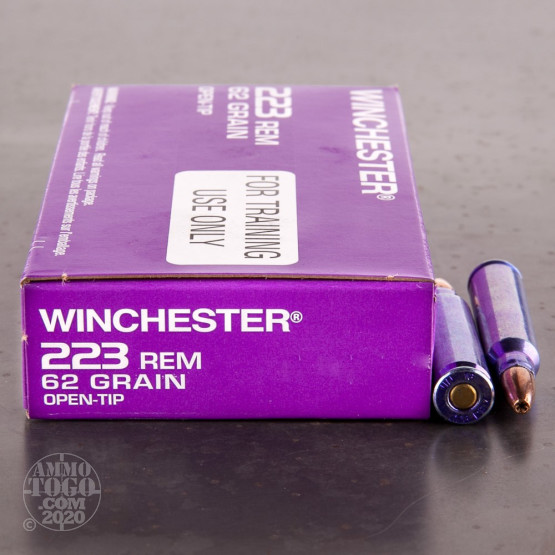 1000rds – 223 Rem Winchester DHS Purple Casing 62gr. OT Ammo