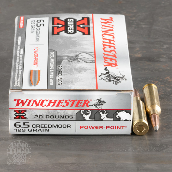 200rds – 6.5 Creedmoor Winchester Super-X 129gr. Power Point Ammo