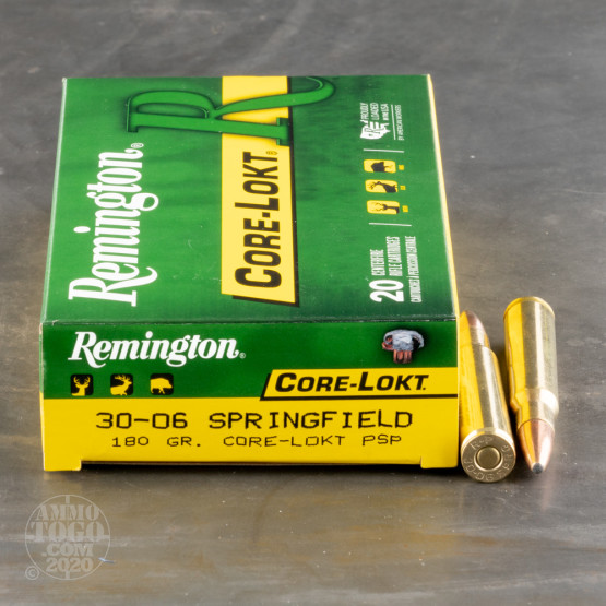 200rds – 30-06 Remington Core-Lokt 180gr. PSP Ammo