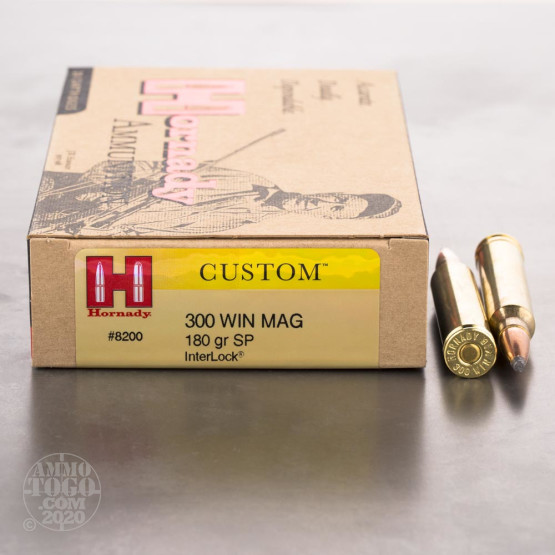 20rds - 300 Win. Mag. Hornady 180gr. Soft Point Ammo