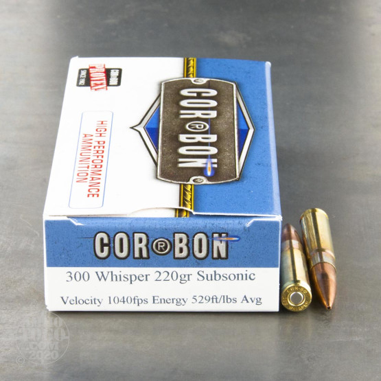 20rds - 300 Whisper Corbon 220gr. Sub-Sonic HP Ammo
