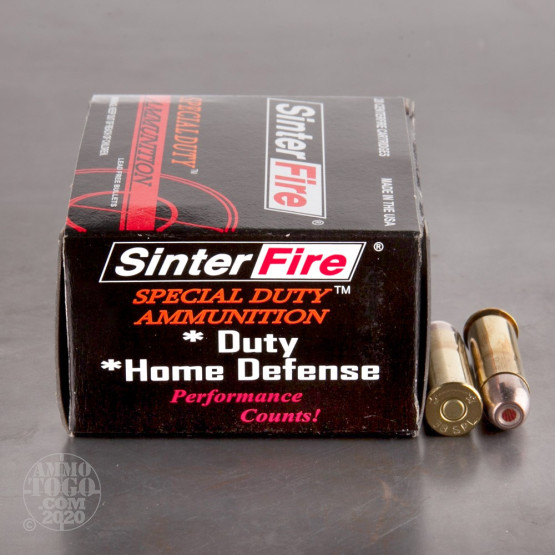 20rds - 38 Special SinterFire Special Duty 110gr. Frangible HP Ammo