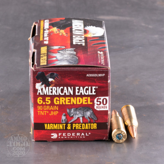 50rds - 6.5 Grendel Federal American Eagle 90gr. JHP Ammo