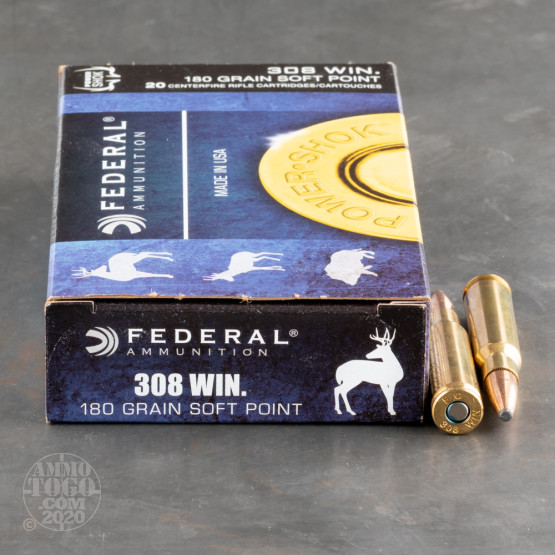 200rds – 308 Federal Power-Shok 180gr. SP Ammo
