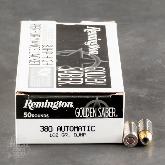 50rds – 380 Auto Remington Golden Saber 102gr. BJHP Ammo