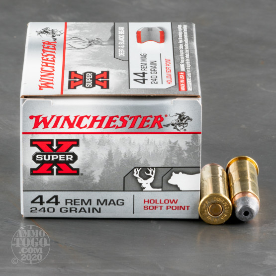 20rds - 44 Mag Winchester 240gr. Hollow Soft Point Ammo
