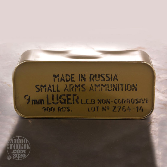 900rds - 9mm Tula 115gr. FMJ Ammo in Spam Can