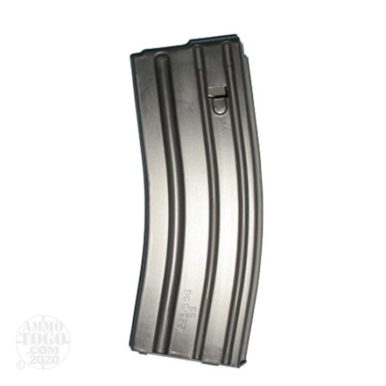 1 - C Products AR-15 .223 Stainless Steel 30rd. Magazine w/ Black Follower