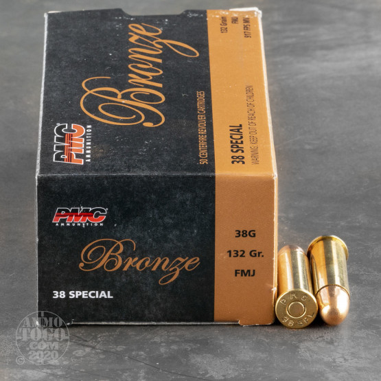 50rds - 38 Special PMC 132gr. FMJ Ammo