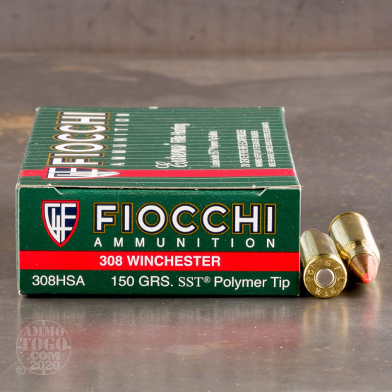 20rds - 308 Win Fiocchi 150gr. SST Polymer Tip Ammo
