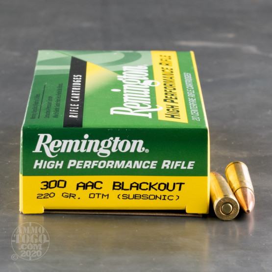 20rds - .300 AAC BLACKOUT Remington 220gr. OTM Subsonic Ammo