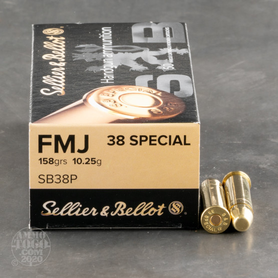 50rds – 38 Special Sellier & Bellot 158gr. FMJ Ammo