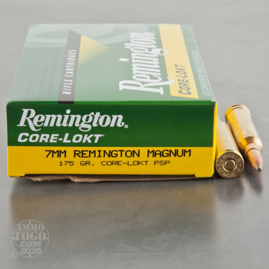 20rds - 7mm Rem Mag Express Core-Lokt 175gr. Pointed Soft Point Ammo