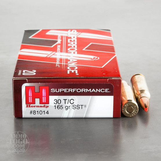 20rds – 30 Thompson Center Hornady Superperformance 165gr. SST Ammo