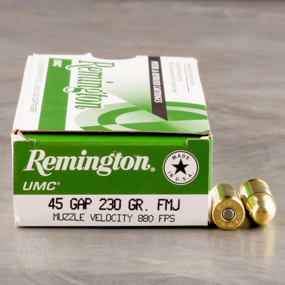 50rds – 45 GAP Remington UMC 230gr. FMJ Ammo