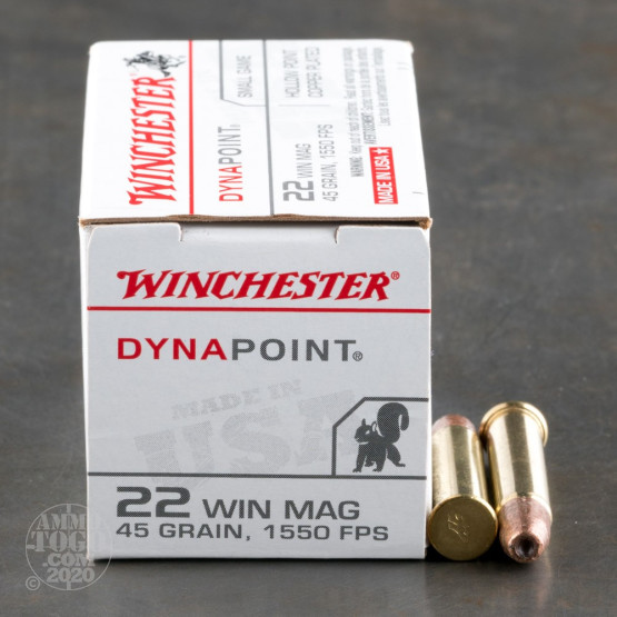 2000rds – 22 WMR Winchester Dynapoint 45gr. CPHP Ammo