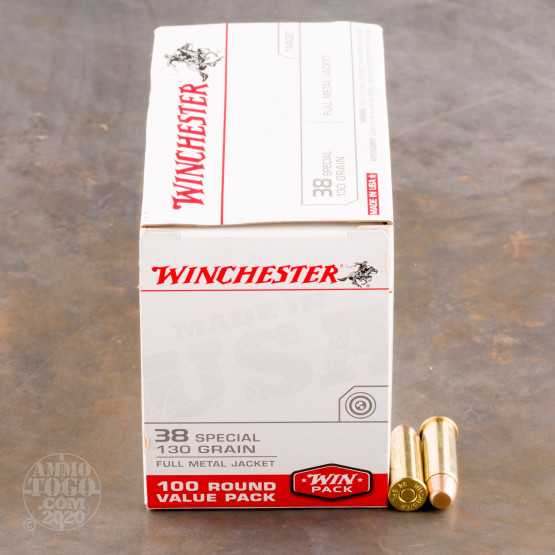 500rds - 38 Special Winchester USA 130gr. FMJ Value Pack Ammo