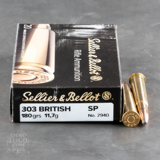 20rds – 303 British Sellier & Bellot 180gr. SP Ammo