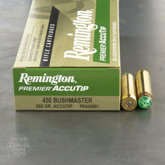 20rds - 450 Bushmaster Remington 260gr. Accutip Ammo