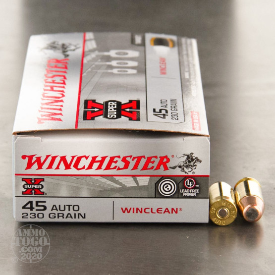 50rds – 45 ACP Winchester WinClean 230gr. BEB Ammo - Law Enforcement Trade-In