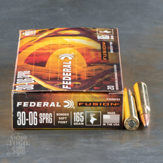 20rds - 30-06 Federal Fusion 165gr. SP Ammo