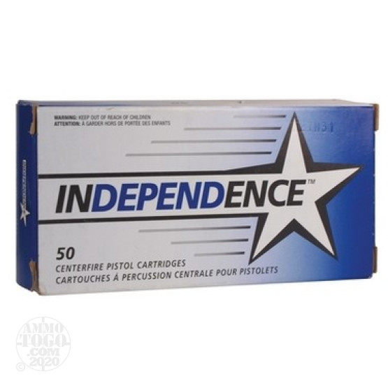 50rds - 380 Auto Independence 90gr. FMJ Ammo