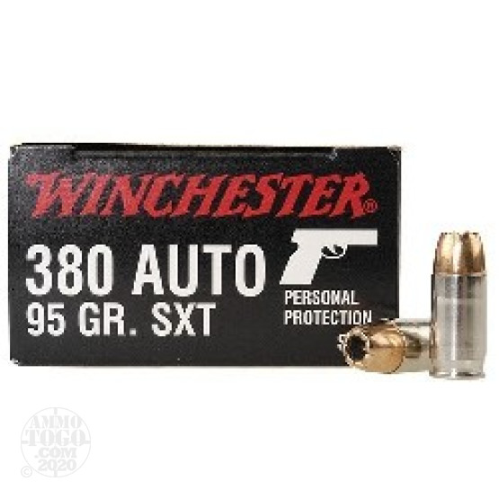 20rds - .380 Auto Winchester Supreme SXT 95gr. Hollow Point Ammo