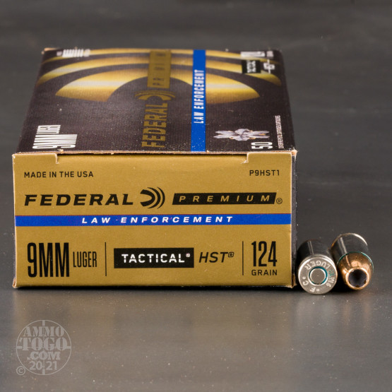 Federal 9mm HSTs with 124 grain JHP bullet